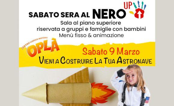 Sabato 9 Marzo al Nero Up