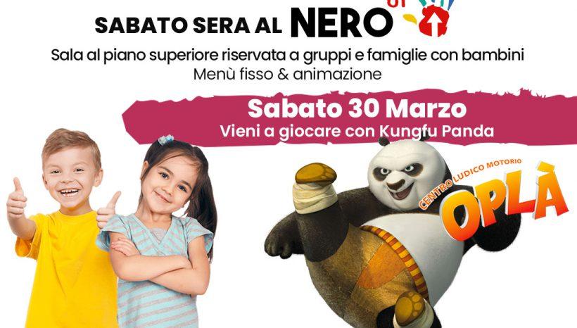 Sabato 30 Marzo Cena al NeroUp per gruppi e famiglie con bambini