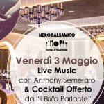 venerdì 3 Maggio – Cena con Musica Live