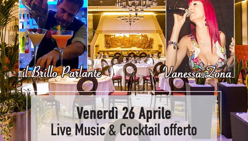 26 Aprile – Venerdì sera cena con musica dal vivo al Ristorante Nero Balsamico