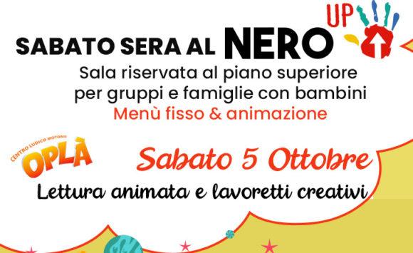 Dal 5 Ottobre ripartono i Sabato Sera Nero UP!