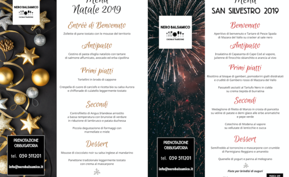 I menu delle Feste