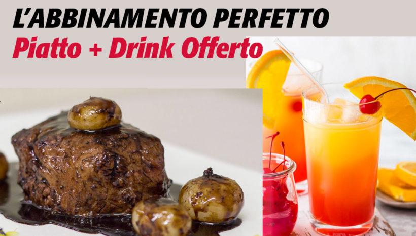 Venerdì 29 Novembre è l'occasione di gustare i nostri piatti valorizzati dal  drink perfetto da noi offerto