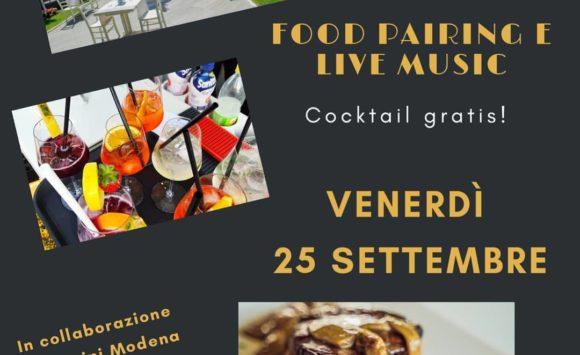 Food Pairing Drink & Live Music – Venerdì 25 settembre