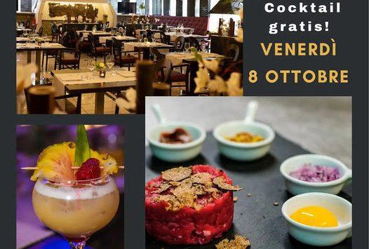 Venerdì 8 ottobre Food Pairing, Live Music e Cocktail offerto